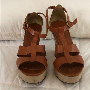 J. Crew Leather Platform Sandal